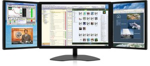 Triple Monitors: Zenview PowerTrio professional-grade triple-screen LCD monitors