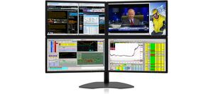 Four-Screen Monitors: Zenview Quad professional-grade four-screen LCD monitors